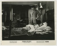3h780 ROMAN HOLIDAY 8.25x10 still R1962 Gregory Peck standing over sleeping Audrey Hepburn!