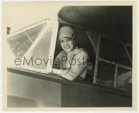 3h789 RUTH ELDER 8.25x10 still 1926 portrait of the famous aviatrix in her airplane by Otto Dyar!