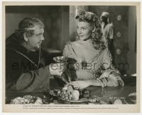 3h795 SALOME 8x10 still 1953 Charles Laughton offers a drink to beautiful Rita Hayworth!