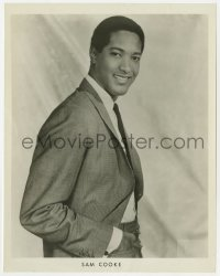 3h796 SAM COOKE 8x10 music publicity still 1950s portrait of the African American singer by Seymour!