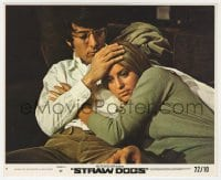 3h062 STRAW DOGS 8x10 mini LC #5 1972 Sam Peckinpah, close up of Dustin Hoffman & Susan George!
