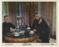 3h065 TO CATCH A THIEF color 8x10 still 1955 Cary Grant & John Williams examine the stolen jewels!