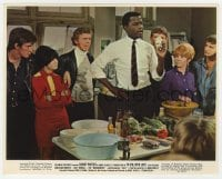 3h066 TO SIR, WITH LOVE color 8x10 still 1967 great image of Sidney Poitier giving a cooking class!