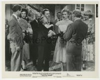 3h020 WE'RE NOT MARRIED 8x10 still 1952 Marilyn Monroe gets remarried to David Wayne holding baby!