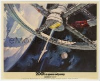3h025 2001: A SPACE ODYSSEY Cinerama color English FOH LC 1968 Bob McCall art of space wheel!