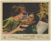 3h061 STORY OF ROBIN HOOD color English FOH LC 1952 c/u of Joan Rice nursing wounded Richard Todd!