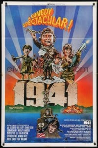 3j011 1941 style F 1sh 1979 Spielberg, art of John Belushi, Dan Aykroyd & cast by Green!