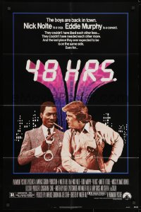 3j007 48 HRS. 1sh 1982 Nick Nolte is a cop who hates Eddie Murphy who is a convict!