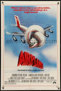 3j018 AIRPLANE 1sh 1980 classic zany parody by Jim Abrahams and David & Jerry Zucker!