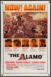 3j021 ALAMO 1sh R1967 John Wayne & Richard Widmark in the Texas War of Independence!
