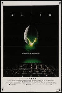 3j023 ALIEN NSS style 1sh 1979 Ridley Scott outer space sci-fi monster classic, cool egg image!