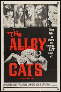 3j027 ALLEY CATS 1sh 1968 Anne Arthur, Radley Metzger directed sex & violence!