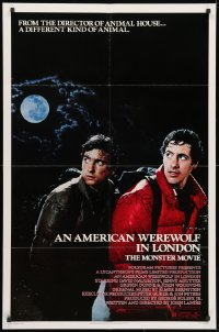 3j034 AMERICAN WEREWOLF IN LONDON 1sh 1981 David Naughton, Agutter, Dunne, John Landis!