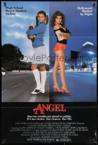 3j038 ANGEL 1sh 1983 high school honor student by day, Hollywood hooker at night!