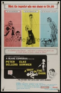 3j802 SHOT IN THE DARK 1sh 1964 Blake Edwards, Peter Sellers, sexy Elke Sommer, Pink Panther!