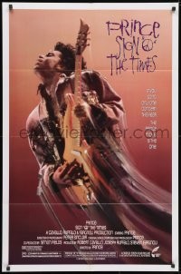 3j805 SIGN 'O' THE TIMES 1sh 1987 rock and roll concert, great image of Prince w/guitar!