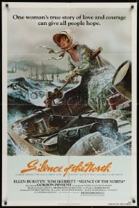 3j806 SILENCE OF THE NORTH 1sh 1981 artwork of Ellen Burstyn braving the river rapids alone!