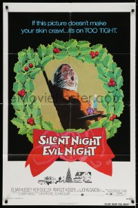 3j808 SILENT NIGHT EVIL NIGHT 1sh 1975 this gruesome image will surely make your skin crawl!