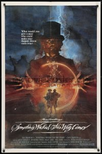 3j828 SOMETHING WICKED THIS WAY COMES 1sh 1983 Ray Bradbury, Jason Robards, David Grove art!
