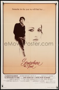 3j829 SOMEWHERE IN TIME 1sh 1980 Christopher Reeve, art of Jane Seymour, cult classic!