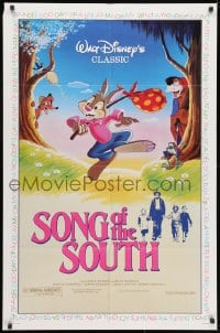 3j830 SONG OF THE SOUTH 1sh R1986 Walt Disney, Uncle Remus, Br'er Rabbit & Br'er Bear!