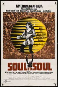 3j831 SOUL TO SOUL 1sh 1971 great art of Tina Turner performing from America to Africa!