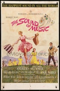3j833 SOUND OF MUSIC 1sh 1965 classic artwork of Julie Andrews by Howard Terpning, pre-awards!