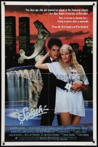 3j835 SPLASH 1sh 1984 Tom Hanks loves mermaid Daryl Hannah in New York City under Twin Towers!