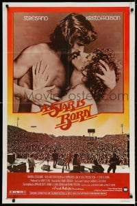 3j840 STAR IS BORN 1sh 1977 Kris Kristofferson, Barbra Streisand, rock 'n' roll concert image!