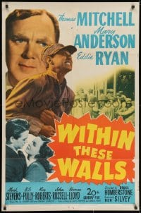 3j982 WITHIN THESE WALLS 1sh 1945 Thomas Mitchell, Mary Anderson, Eddie Ryan, prison escape!