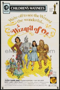 3j983 WIZARD OF OZ 1sh R1972 Victor Fleming, Haley, Bolger, Lahr, Judy Garland all-time classic!