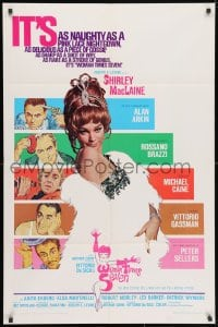 3j987 WOMAN TIMES SEVEN 1sh 1967 MacLaine is as naughty as a pink lace nightgown, Cassell art!