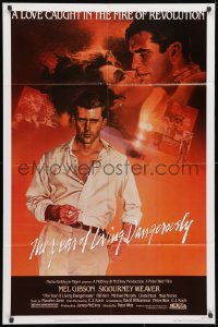 3j993 YEAR OF LIVING DANGEROUSLY 1sh 1983 Peter Weir, artwork of Mel Gibson by Stapleton and Peak!