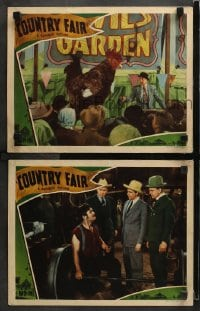 3k818 COUNTRY FAIR 2 LCs 1941 Eddie Foy Jr, Big Boy Williams, political scandal, great images!
