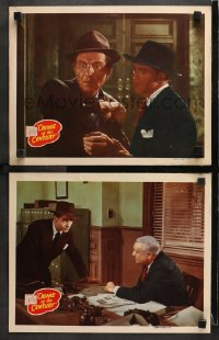 3k820 CRIME OF THE CENTURY 2 LCs 1946 great images of Michael Browne and Martin Kosleck!