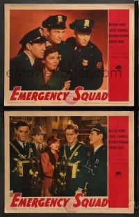 3k829 EMERGENCY SQUAD 2 LCs 1940 firefighters Robert Paige, Richard Denning & Louise Campbell!