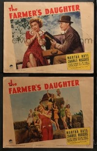 3k831 FARMER'S DAUGHTER 2 LCs 1940 great images of zany Martha Raye & Charlie Ruggles!