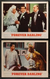 3k835 FOREVER DARLING 2 LCs 1956 angel James Mason between Desi Arnaz & Lucille Ball, I Love Lucy!