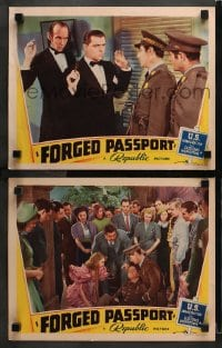 3k836 FORGED PASSPORT 2 LCs 1939 Guy Wilkerson & Lyle Talbot in tuxedos and uniforms with June Lang!