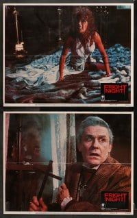 3k839 FRIGHT NIGHT 2 LCs 1985 Roddy McDowall, monstrous Amanda Bearse bride with fangs on floor!