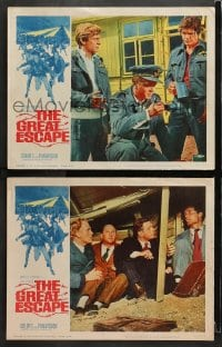 3k844 GREAT ESCAPE 2 LCs 1963 Charles Bronson, Attenborough, Garner, Pleasence, McCarthy border art!