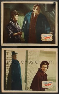 3k875 LODGER 2 LCs 1943 great images of Laird Cregar as Jack the Ripper and Sara Allgood!