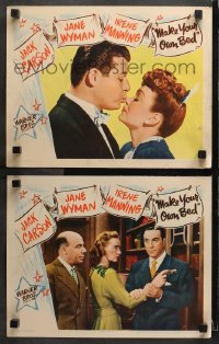 3k884 MAKE YOUR OWN BED 2 LCs 1944 Jack Carson, sexy maid Jane Wyman & Irene Manning!