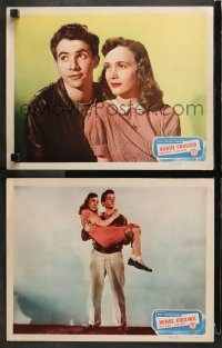 3k897 MICHAEL O'HALLORAN 2 LCs 1948 great romantic images of Scotty Beckett, Allene Roberts!