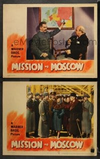3k900 MISSION TO MOSCOW 2 LCs 1943 Ann Harding & Walter Huston, Michael Curtiz directed!