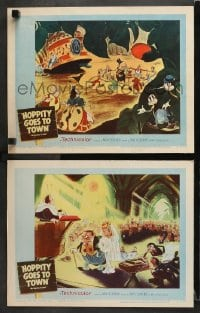 3k904 MR. BUG GOES TO TOWN 2 LCs R1959 great animated images from Dave Fleischer cartoon!