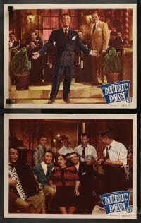 3k906 MUSIC MAN 2 LCs 1948 Big Band leader Jimmy Dorsey singing with Orchestra and fan!
