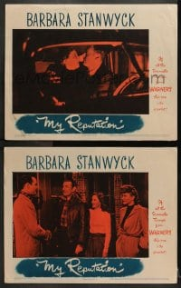 3k907 MY REPUTATION 2 LCs 1946 great images of bad girl Barbara Stanwyck, George Brent!