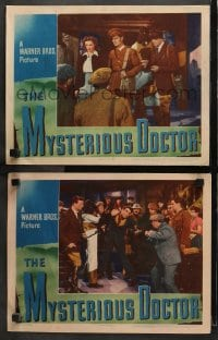 3k908 MYSTERIOUS DOCTOR 2 LCs 1943 Eleanor Parker, John Loder, tin mine haunted by headless ghost!