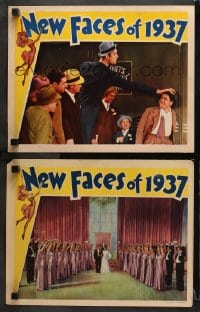 3k911 NEW FACES OF 1937 2 LCs 1937 great images of wackiest Joe Penner, Parkyakarkus!